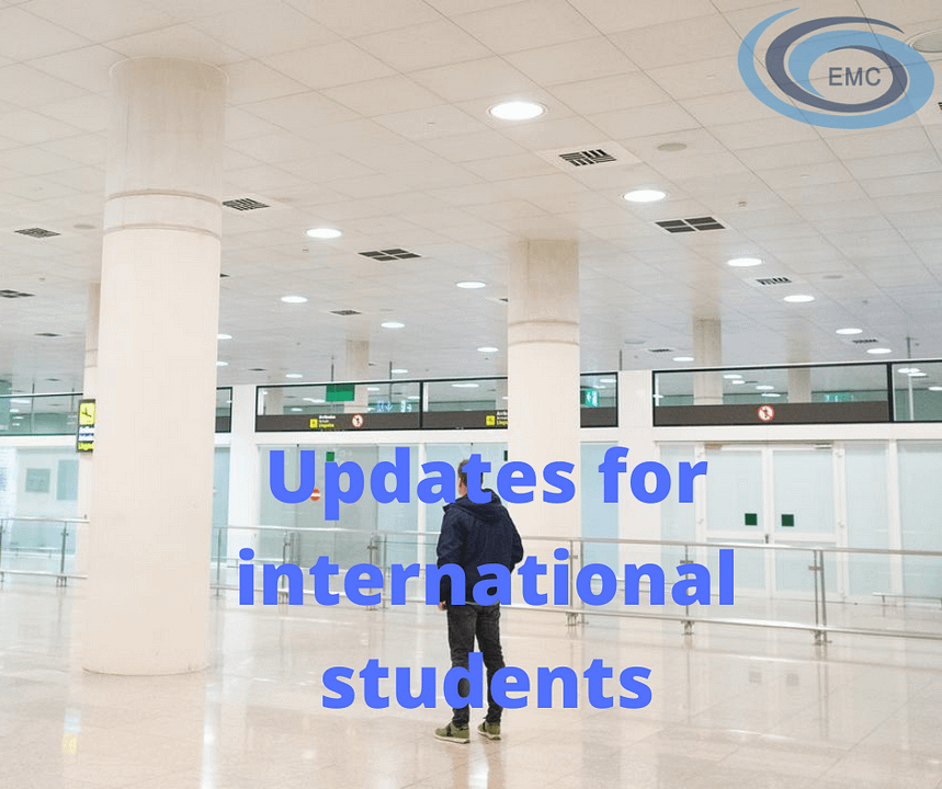 Update for international students